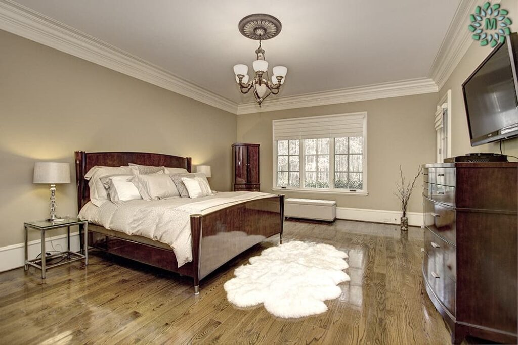 luxurious bedroom in Sanctuary home
