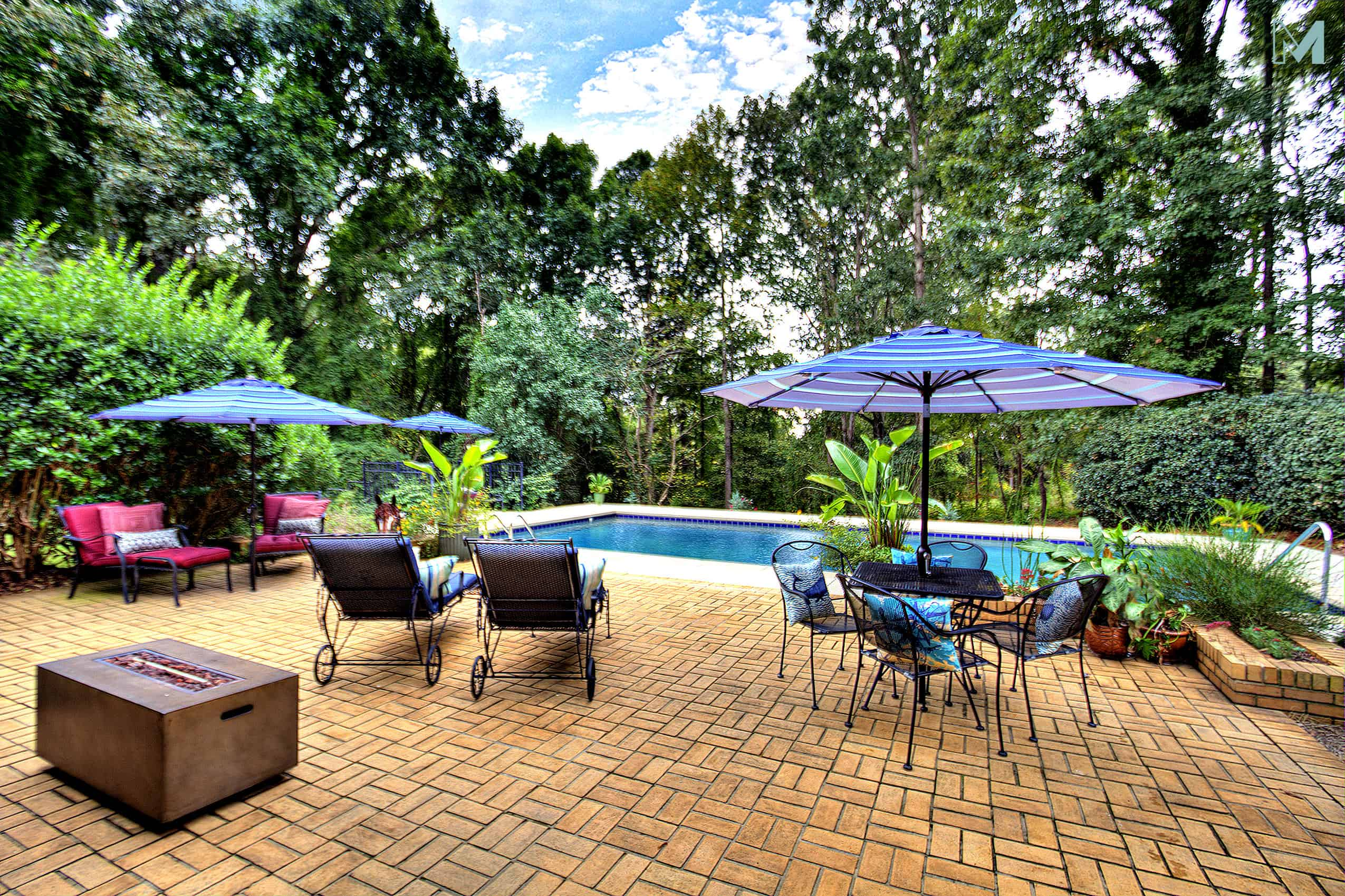 Incredible backyard retreat in MCM home for sale in Charlotte